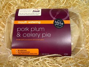 Pork, Plum & Celery Pie