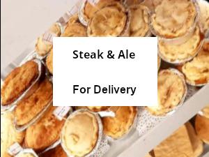 Pack of 10 Pastry encased Steak & Ale pies - frozen ...