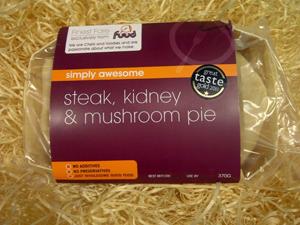 Steak, Kidney & Mushroom Pie