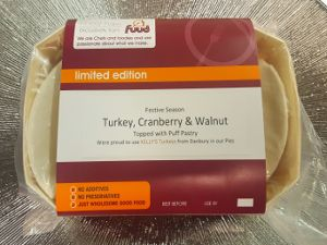Turkey, Cranberry & Walnut Pie